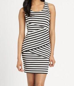 Michael Kors Scuba Side Zip Black & White Dress 4